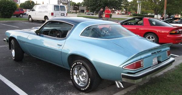 Another View Of A 77 Two Toned Blue Camaro Rally Sport