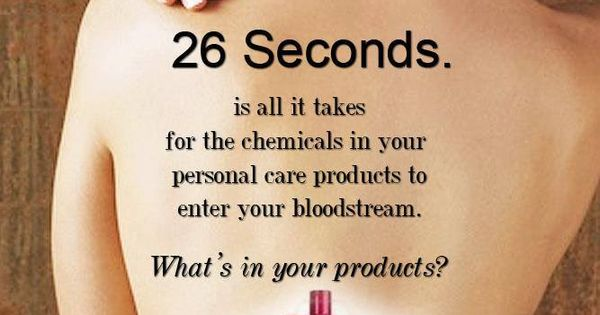 26 seconds after putting on products, chemicals can enter ...