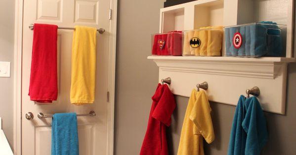 Super Bathroom Organizations Boys And Superhero Bathroom