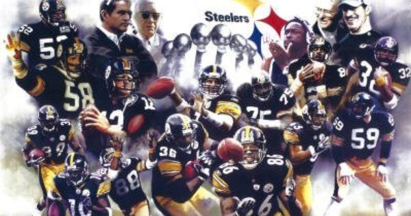 11x17 Pittsburgh Steelers Group Trophies Sports Poster Print