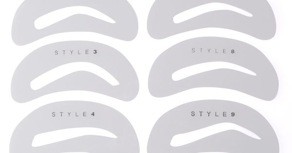 printable eyebrow stencil template - top 5 brow shapes not to do elke von freudenberg salon