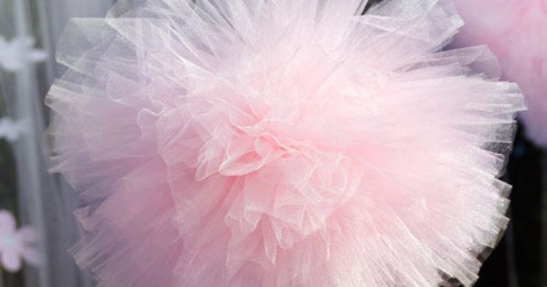 tule pom pom sweet for weddings, baby showers etc.
