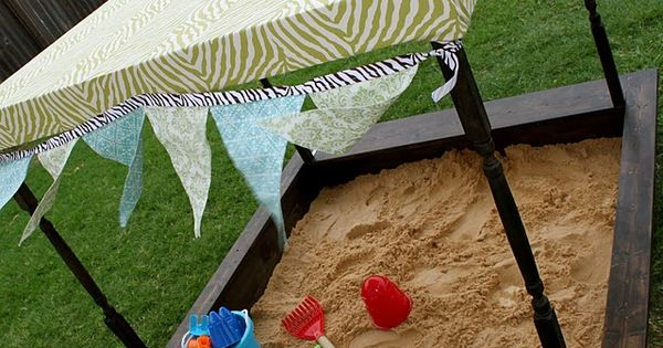 This weekend's project ; ) Sand Box {inspired by Pottery Barn Kids}