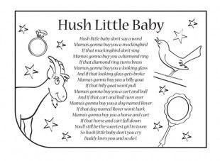 Hush Little Baby Nursery Rhyme Lyrics