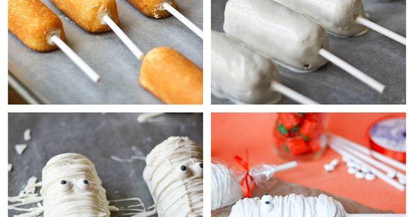 Mummy Twinkie Pops for Halloween