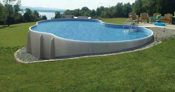 Above Ground Built Into Hill Pool Ideas Pinterest