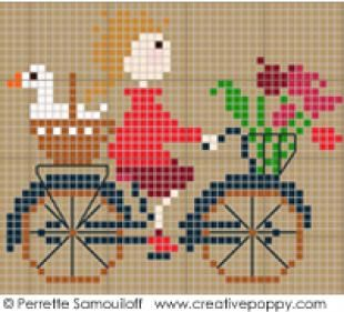 Happy Childhood The Geese Large Cross Stitch Patternby Perrette Samouiloff Large Cross Stitch Patterns Cross Stitch Patterns Cross Stitch Bird