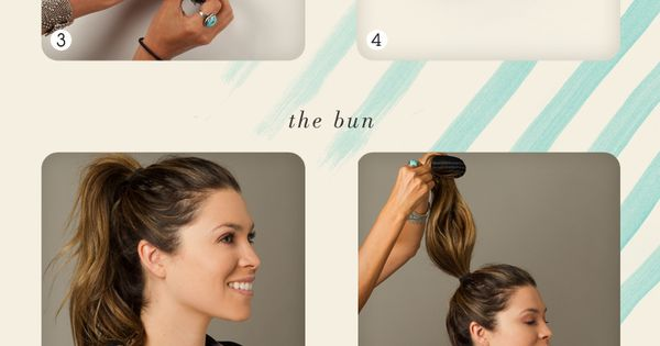 Summer sock bun hair tutorial. DIY. High bun. Great idea for dance