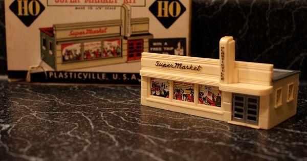 Vintage Plasticville Supermarket Ho Scale Dream