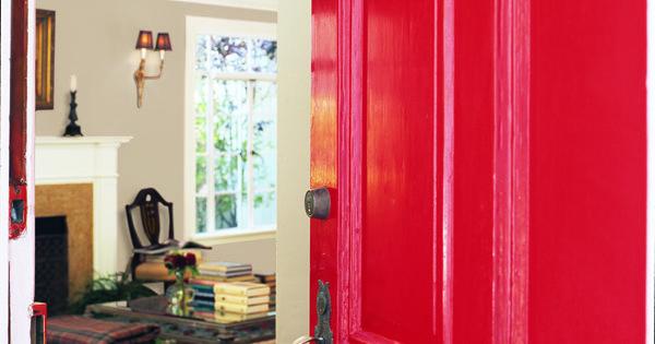 Dunn Edwards Paints Paint Colors Door Red Contrast