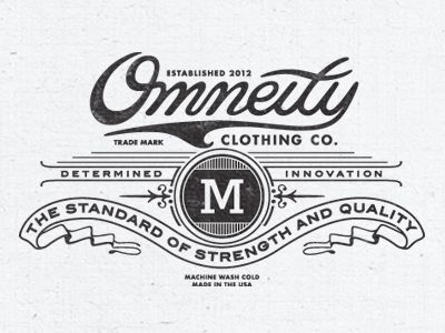 omneity clothing label tag on inside of t shirts love the type elements