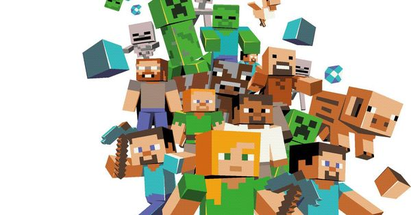 57digital S Minecon Booth Background Illustration