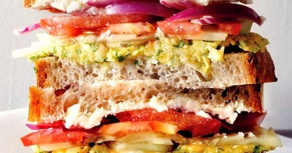Greek salad, Salad sandwich and Sandwiches on Pinterest