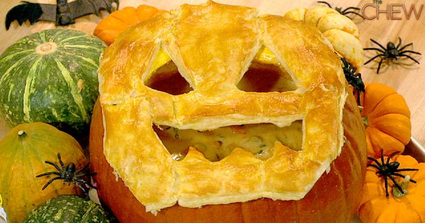 Pumpkin Pot Pie - Get ready for Halloween with this fun meal!