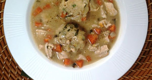 Herbed Chicken and Dumplings -- Yields 8 (3/4 cup stew + 2