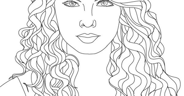 Taylor Swift coloring page Taylor Swift, Miley & Pitbull