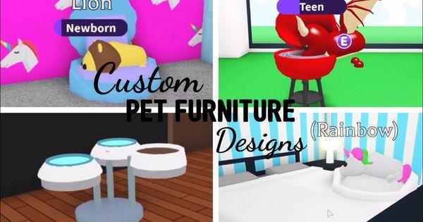 10 Custom Pet Furniture Design Ideas Building Hack Roblox Adopt Me Its Sugarcoffee Youtube Custom Pet Furniture Pet Furniture Animal Room