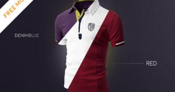 Polo T Shirt Mockup Front And Back Psd Free Free Download Psd Mock Up T Shirt 3 Colors Shirt Mockup Tshirt Mockup Psd