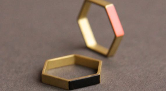 Hexagon ring. designlovefest