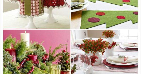 decoration table noel centre de table paquet cadeau set de table sapin feutrine table. Black Bedroom Furniture Sets. Home Design Ideas