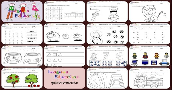 Cuadernillo De 40 Actividades Para 5 Anos Educacion Preescolar