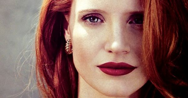 #jessicachastain ginger red hair haircolor trends