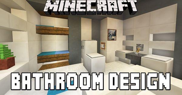 Minecraft Furniture Bathroom minecraft tutorial: how to build a modern house ep.7 (bathroom