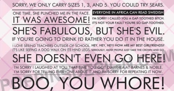 too quotable MeanGirls Mean Girls :) best movie!!!