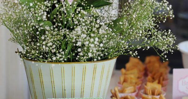 baby shower food table ideas peonies and individual spinach dip and pita