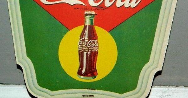 Vintage 1950 S Drink Coca Cola Cardboard Advertising Hand