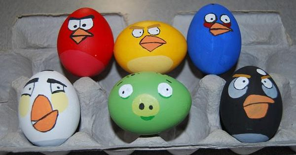 I will definately have to make these Easter eggs!!! Angry Birds or
