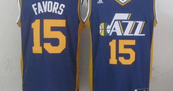 ... White Gonzaga Bulldogs College Stitched NBA Jersey Mens Utah Jazz  Derrick Favors adidas blue 2014-15 New Swingman Road Jersey Pinterest Blue 2014  2015 ... 03bd9c137