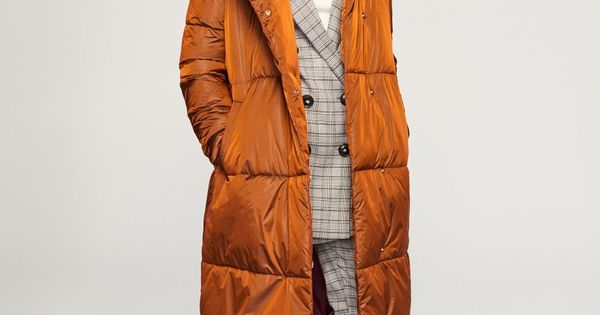 Pikowany Plaszcz Pomaranczowy Uc379 28x Reserved Winter Jackets Coat Canada Goose Jackets