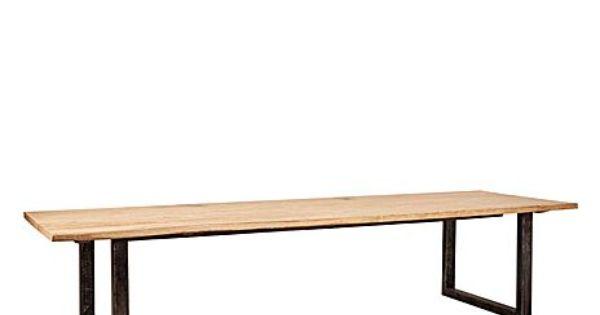Mesa de comedor en madera y hierro juego de comedor for Juego de terraza de madera