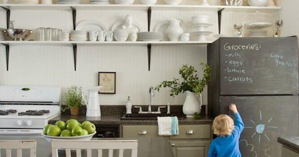solution d co pour un vieux frigo la peinture ardoise elle m la mode cuisine pinterest. Black Bedroom Furniture Sets. Home Design Ideas