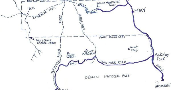 A Map Of The Area Where Chris Mccandless Was In Alaska