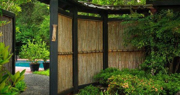 gartenzaun sichtschutz vorgarten japanischer stil bambus garten pinterest japanischer stil. Black Bedroom Furniture Sets. Home Design Ideas