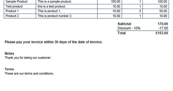 use invoice templates to bill your customers, and invoicing, Invoice examples