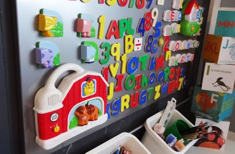 Magnetic boards magnets and ikea on pinterest for Magnetic board for kids ikea