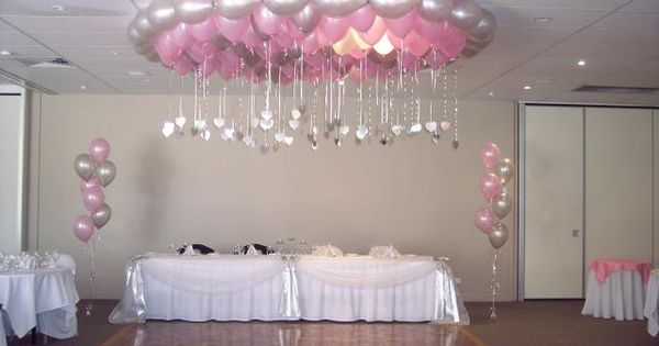Easy diy quinceanera balloon decorations party planning for Balloon decoration ideas for a quinceanera