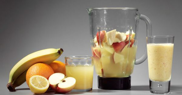 Fat loss fruit smoothie 1 chopped apple 1 peeled orange banana 200ml
