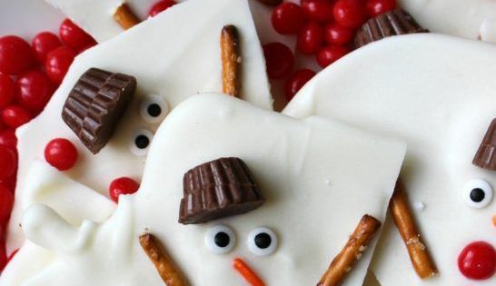 Melted Snowman Chocolate Bark | Cookie swap, Awesome and ...