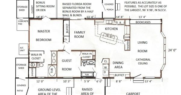 FLOOR PLAN 1984 Fuqua Mobile / Manufactured Home In Fort