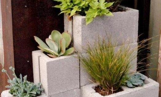 Concrete block - Herb Garden idea