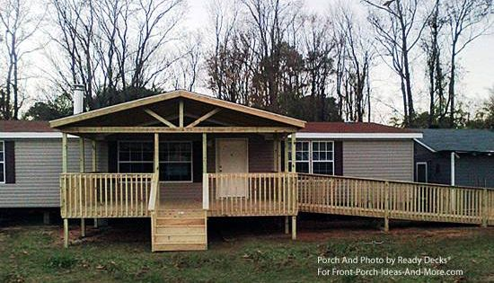 Porch Designs For Mobile Homes Wheelchair Ramp And Porch