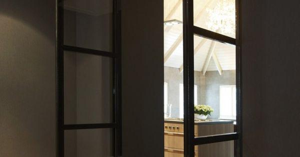 Interieuridee n pb ter inspiratie door kriskletskous stalen deuren pinterest keuken - Glazen ingang ...