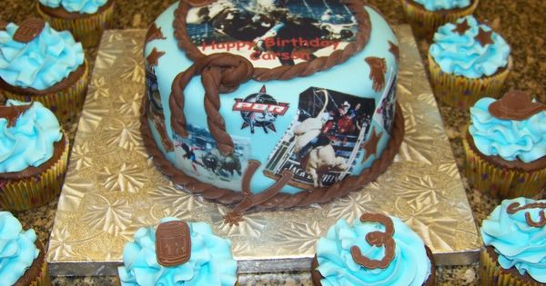 Bucking Bull Cake Ideas 1st Birthday Cake For A