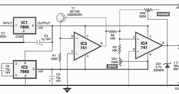 digital thermometer circuit diagram