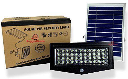High Power 1000lumen Solar Motion Led Flood Light 10 Watts Of High Power Light Commercial Grade Solar Flood Lights Led Flood Lights Security Lights