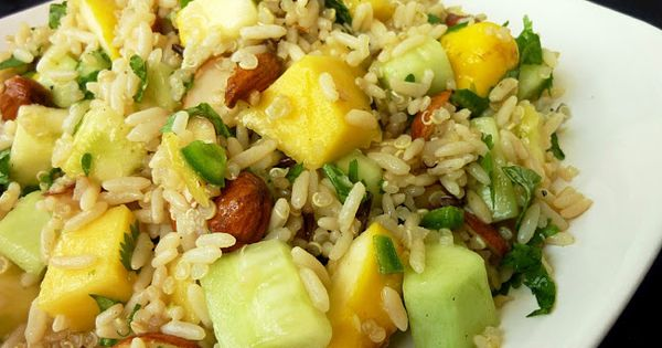 Vanilla & Spice: Mango, Cucumber & Squash Rice Salad tried and true ...